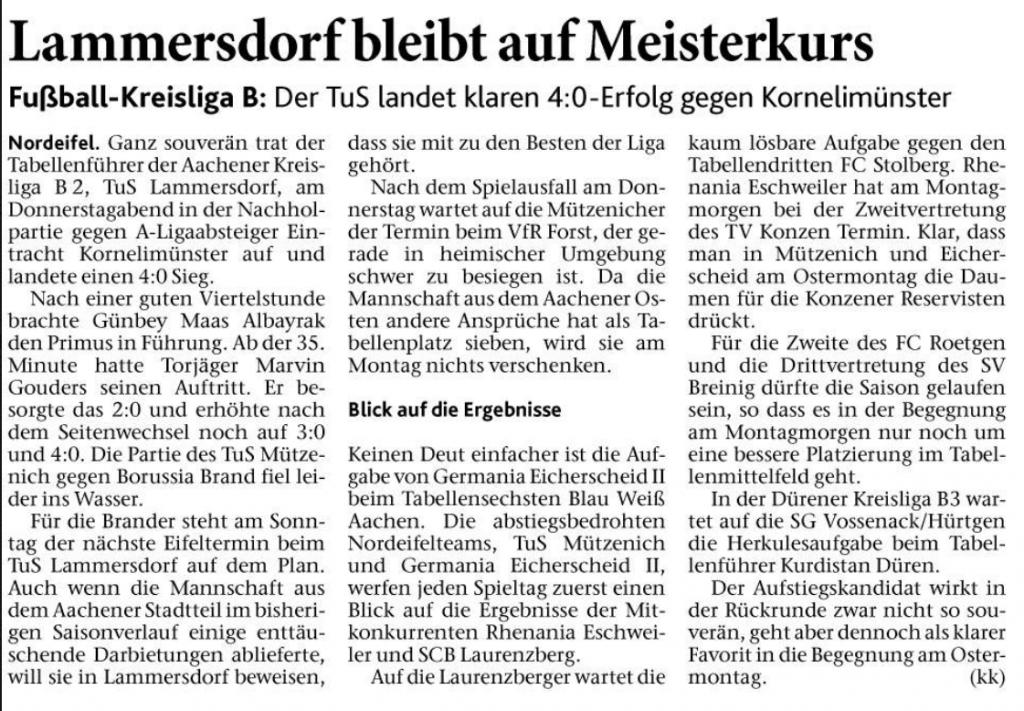 Eifeler Zeitung 31.03.2018