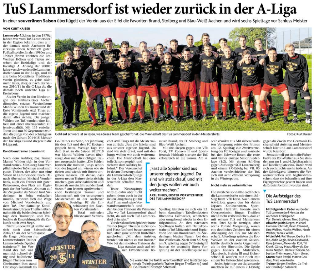 Eifeler Zeitung, 05.05.2018